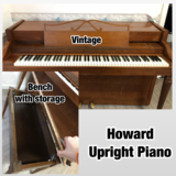 Vintage Howard Upright Piano in Hinesville, Georgia