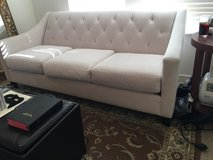 "Contemporary Suede Couch 74""L - Off-White XLNT COND. in Yucca Valley, California"