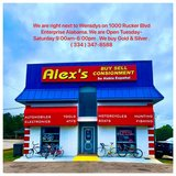 We buy almost everything with value! We are right next to Wensdys on 1000 Rucker Blvd in Fort Rucker, Alabama