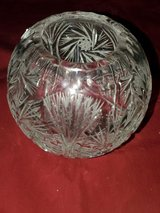 AUTHENTIC European Crystal Rose bowl with Pinwheel design in Travis AFB, California