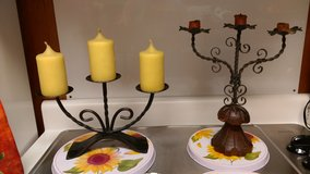 Wrought iron candle holders in Byron, Georgia