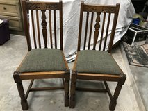 2 Oak side chairs in Conroe, Texas