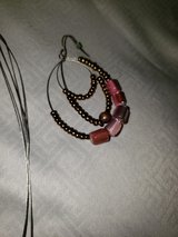 necklace/earring set pink/brown in bookoo, US