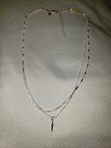 silver small cross necklace in Yorkville, Illinois
