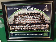 *** Seahawks Super Bowl XLVIII Framed 8x10 Color Team Photo *** in Fort Lewis, Washington