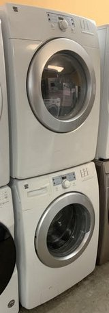 """GREAT WORKING ORDER KENMORE 27"""" STACKABLE WASHER AND ELECTRIC DRYER (SET) in Fairfax, Virginia"""