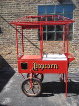 Vintage Popcorn Vendor Hand Cart in Chicago, Illinois