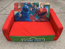 Flip Open Sofa Sesame Street Kids Toddler Furniture Lounger Couch Chair in Westmont, Illinois