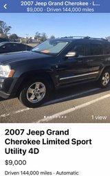2007 Jeep Grand Cherokee Limited Sport Turbo Diesel in Travis AFB, California