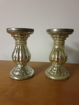 Crackle Silver Candle Pillar Holders in Ramstein, Germany
