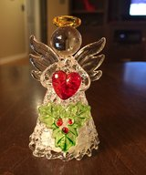 Small Lighted Glass Angel in Yorkville, Illinois