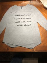 """""""I Will Not Shop"""" Gray XL Top-Macy's Style & Co - in St. Charles, Illinois"""
