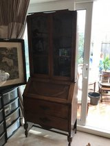 Antique Writing desk/Display cabinet in Lakenheath, UK