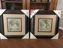 Pictures in Frame Earth Maps in Houston, Texas