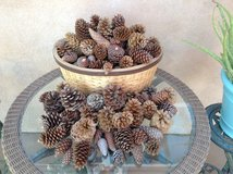 Holiday art project- Pine cones over 100 cones in various sizes in Yucca Valley, California