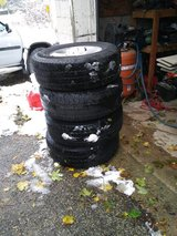 "Set of four 17"" Wrangler tires and rims in Sandwich, Illinois"