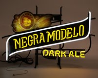Rare Vintage Modelo Negro Neon works in Chicago, Illinois