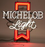 Rare vintage Michelob light neon works in Chicago, Illinois