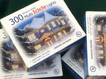 Four Boxes of 300 Icicle Christmas Lights in Chicago, Illinois