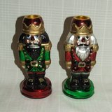 (2) Department 56 Nutcracker Taper Candleholder Ornaments # 56.77131 $25 Each or both $40 in Bolingbrook, Illinois