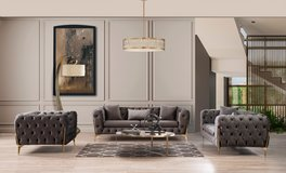 United Furniture - Mildòr Living Room Set including delivery-available in Grey and Taupe in Grafenwoehr, GE