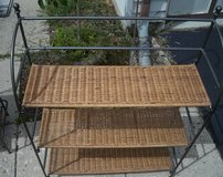 Iron & Rattan Shelves in Chicago, Illinois
