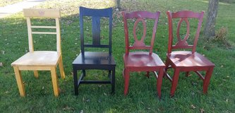 Solid wood chairs in Naperville, Illinois