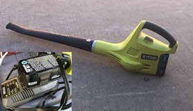 Ryobi leaf blower w/batteries and charger in Spring, Texas