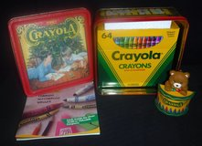 Vintage 1992 Crayola Christmas Holiday Tin, Ornament & 64 Crayon Box ~New Old Stock in Orland Park, Illinois