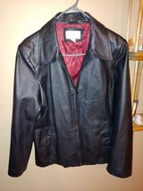 Sz Lg Worthington Black Leather Jacket in Fort Leonard Wood, Missouri