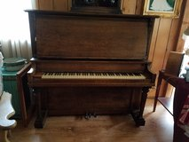 1920's Antique Oak Cabinet Grand Piano by Hall & Sons in Bolingbrook, Illinois