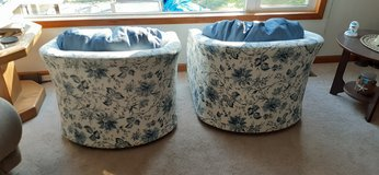 Swivel Accent Chairs   (in blue print) in Joliet, Illinois