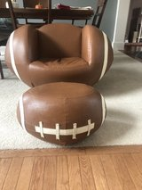 Kid's Football Chair and Ottoman in Plainfield, Illinois