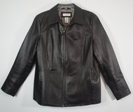 Sears Covington Brown Leather Jacket women's size Large in Byron, Georgia