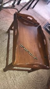 Ethan Allen walnut butler tray coffee table. in Chicago, Illinois
