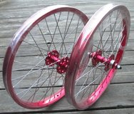 """SE RACING  bmx wheelset 20"""", front & rear, new; RED in Okinawa, Japan"""
