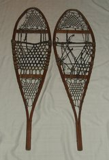 """Authentic Antique / Vintage Snowshoes No. 74 48"""" x 14"""" Wall Decor in Chicago, Illinois"""