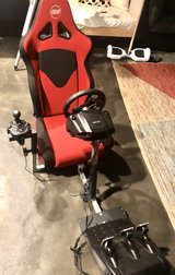 Logitech Racing Seat, wheel, gear shifter and petals in Orland Park, Illinois