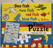 One Fish Two Fish Red Fish Blue Fish Floor Puzzle by Dr. Seuss in Okinawa, Japan