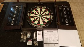 Viper Shotking Official Competition Dartboard in Cabinet NEW in Sandwich, Illinois