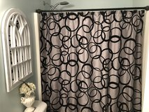 Gray and Black shower curtain in Fort Benning, Georgia