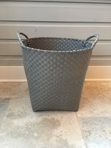 Extra Large LAND OF NOD Gray Strapping Storage Basket in Westmont, Illinois