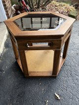 End table with glass top in Chicago, Illinois