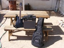 be a rock star with laguna guitar le 400 and acoustic amp and case in 29 Palms, California