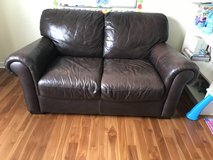 Leather loveseat in Yorkville, Illinois