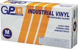 Gpx3 industrial vinyl disposable gloves in Aurora, Illinois