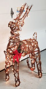 Lighted Reindeer in Fort Campbell, Kentucky
