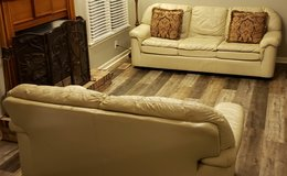 Leather Couch and Loveseat in Fort Campbell, Kentucky