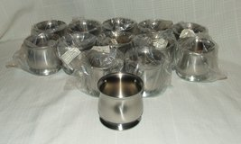 Onieda Stainless Steel Sugar Bowls Hotel Hollowware 8 oz. NEW in St. Charles, Illinois