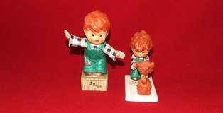 Goebel Redhead Figurines ~ Atta Boy BYJ 7 & On a soap box BYJ 8 ~ 1957 in St. Charles, Illinois